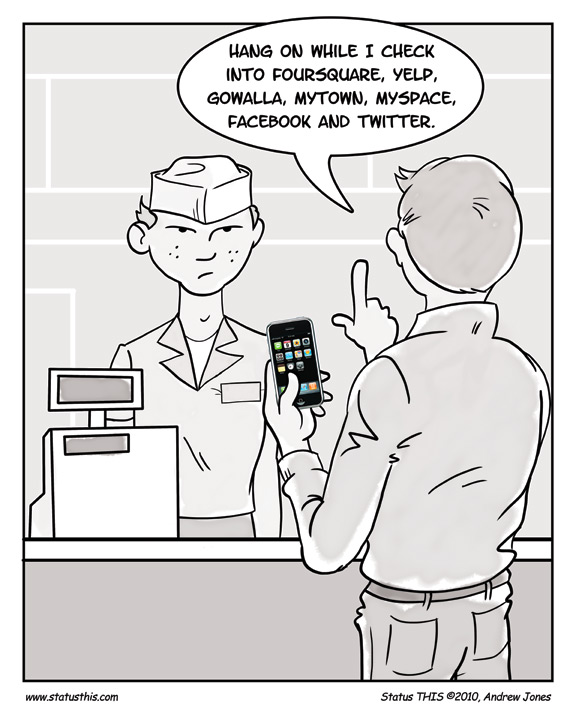 Checkin-comic